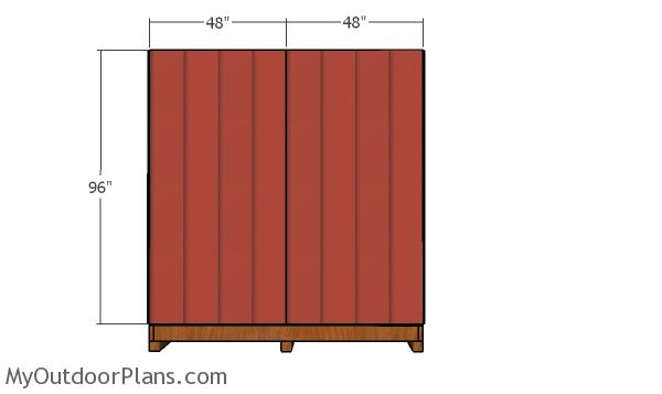 Back wall siding panel