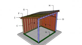 10×12 Run in Horse Shelter Roof Plans