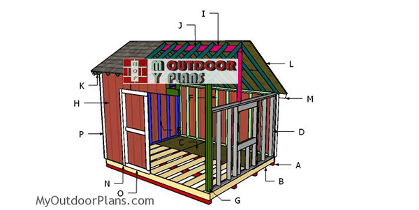 Building-a-10x12-saltbox-shed