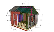 10×12 Saltbox Shed Roof Plans