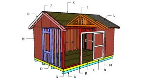 12×18 Gable Shed Roof Plans