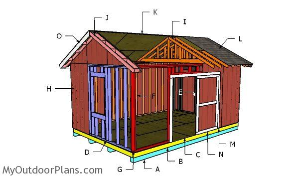 12x18 Gable Shed Roof Plans | MyOutdoorPlans | Free ...