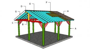 18×18 Shelter Gable Roof Plans