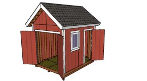 8×10 Heavy duty Gable Shed Plans