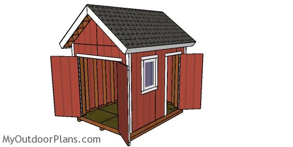 Building a 8x10 shed with 2x6 studs