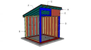 8×8 Run in Shelter Roof Plans