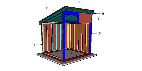 8x8 Run in Shelter Roof Plans