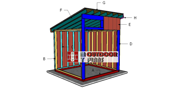 Building-a-8x8-run-in-shed