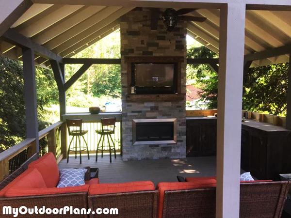 Building-an outdoor pavilion