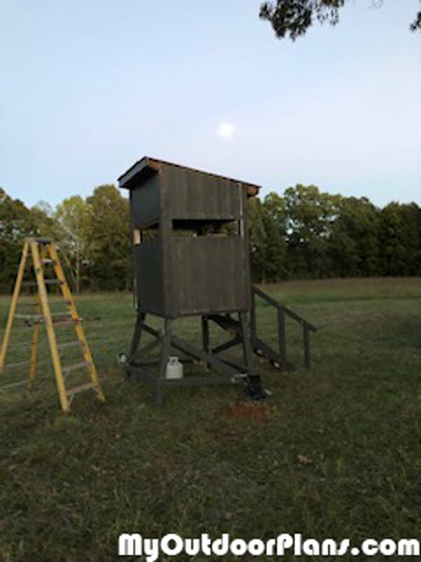 Diy 4x5 Deer Stand Myoutdoorplans Free Woodworking