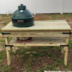 DIY Big Green Egg Medium Egg Bench