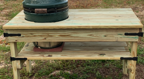 DIY Big Green Egg Medium Egg Bench