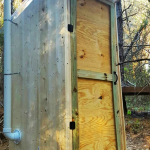 DIY Wooden Outhouse