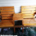 DIY Double Seat with Table
