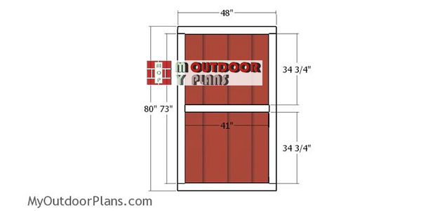 Double-shed-doors