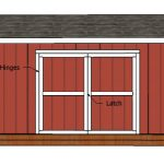 12×18 Gable Shed Doors Plans