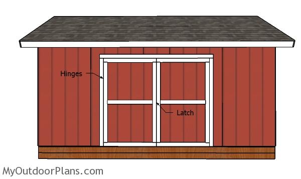 12x18 Gable Shed Doors Plans