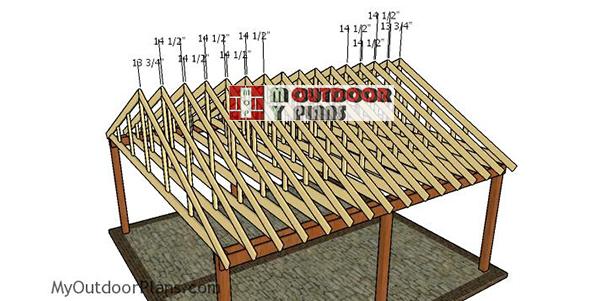 Fitting-the-trusses---2-car-carport