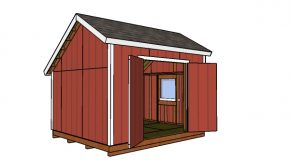 10×12 Saltbox Shed Plans