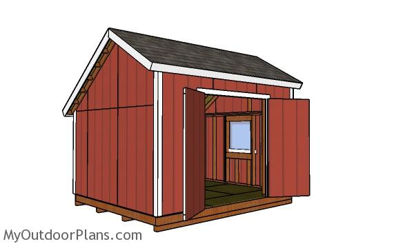 10x12 Saltbox Shed Plans Myoutdoorplans Free Woodworking