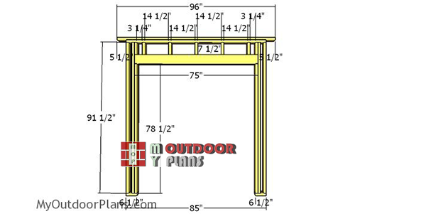Front-wall-frame---8x12-shed