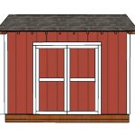 10×12 Saltbox Shed Door and Trims Plans
