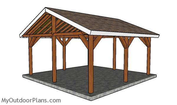 Do It Yourself Home Design: 18x18 Outdoor Shelter Plans