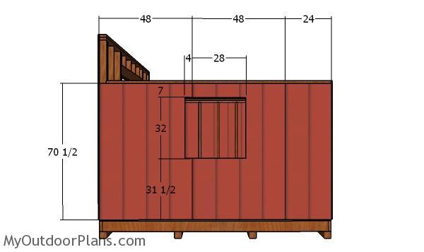 Side wall siding panels