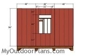 Side wall with siding sheets