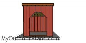 10x10 Run in Shed Plans - Front view