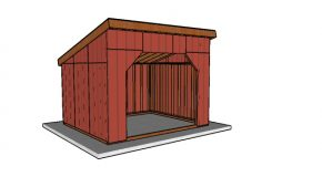 12×14 Run in Shed Plans