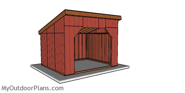12x14 Run in Shed Plans