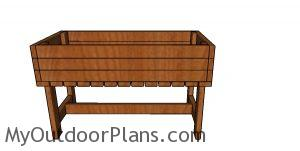 2x4 Elevated Planter Box Plans