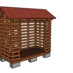 Firewood Shed made from 2×4 lumber Plans