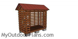 2x4 Firewood Shed Plans