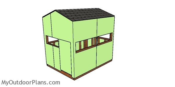 6x8 Deer Stand Roof Plans Myoutdoorplans Free
