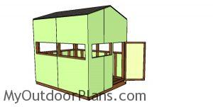 6x8 Shooting House Plans