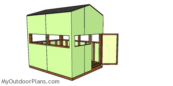 6x8 Shooting House Plans