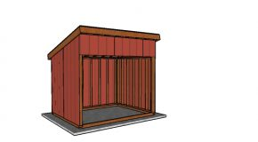 8×10 Run In Shed Plans