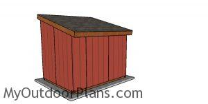 8x10 Run in Shed Plans - back view