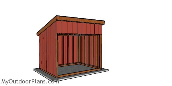 8x10 Run in Shed Plans