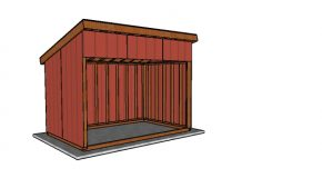 8×12 Run in Shed Plans