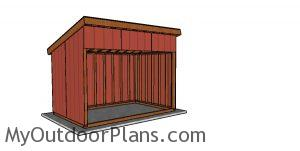 8x12 run in shed plans