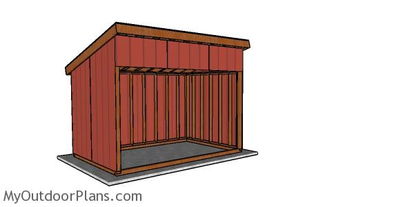 8x12 Run in Shed Roof Plans