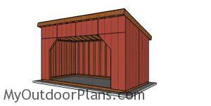 8x16 run in shed plans