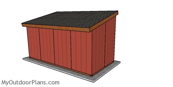 8x16 run in shed plans - back view