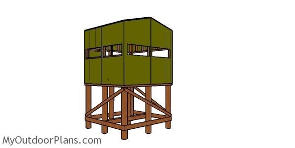 Do It Yourself Home Design: Elevated 8x8 Deer Stand Plans