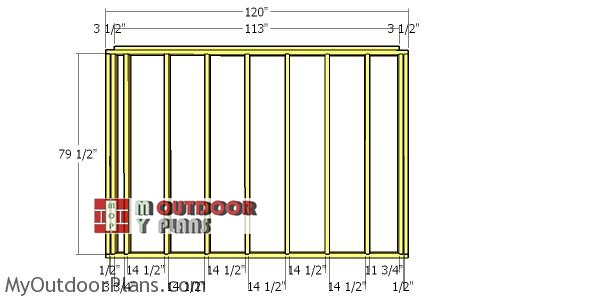 Back-wall-frame---8x10-shed