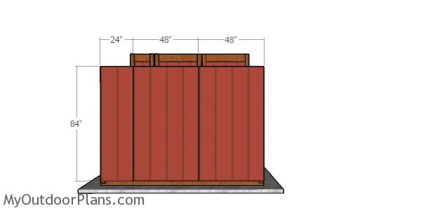 Back wall siding panels