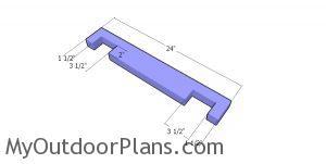 Bottom end slats